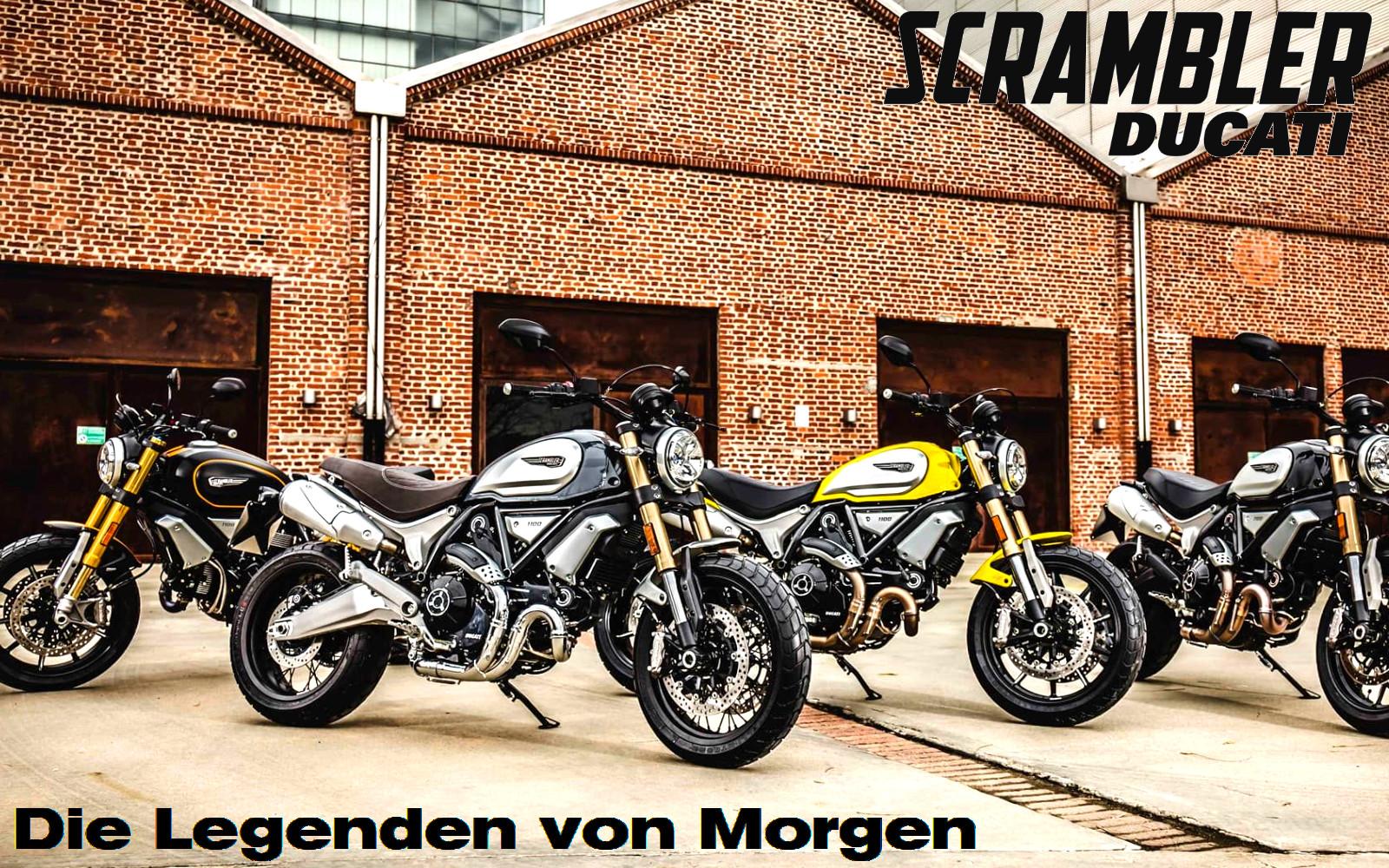 Ducati Scrambler ist das Kernstück des Motorradfahrens und einer Welt mit Freiheit, Spaß und Selbstdarstellung.