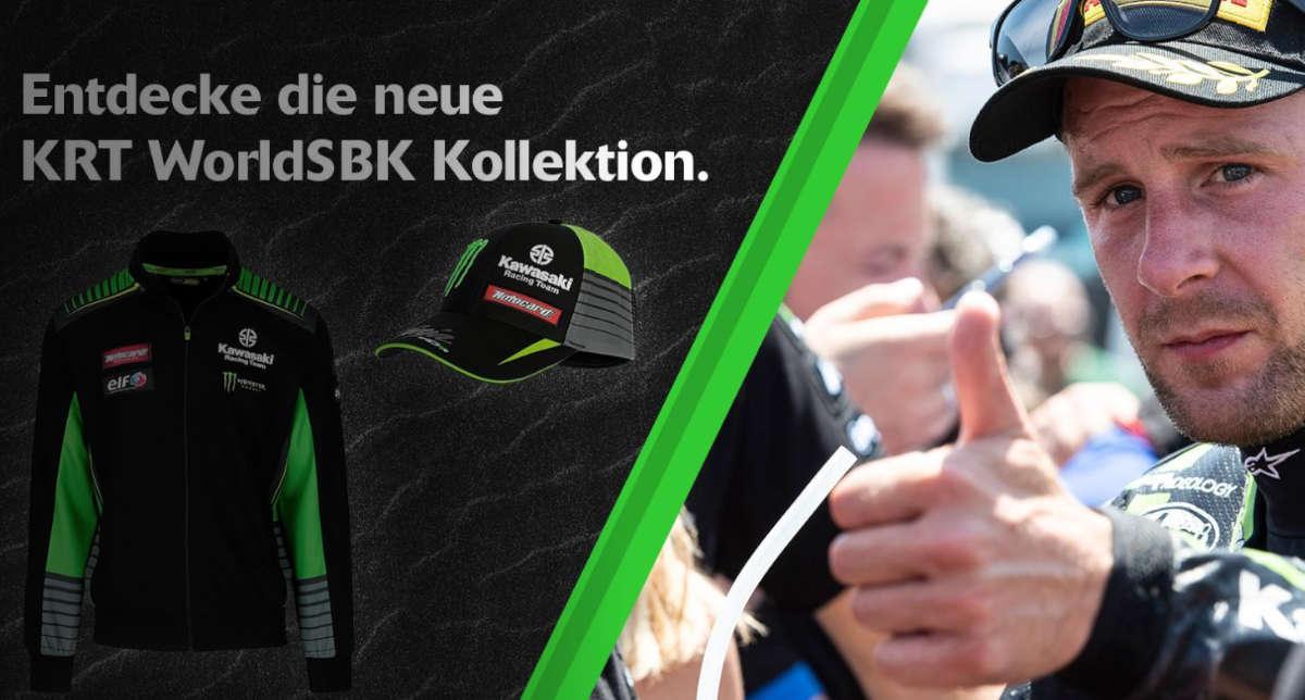 Entdecke die neue KRT WorldSBK Kollektion.