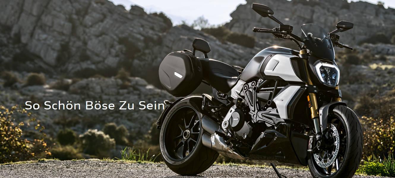 Kraftvoll. Muskulös. Aber auch agil und effektiv in Kurven für maximalen Fahrspaß. Die neue Diavel 1260 kombiniert die Leistung eines Maxi Naked Bikes mit der Ergonomie eines Muscle Cruisers.